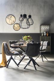 22830 | Eettafel rond met kruispoot - 130x130 | Eleonora