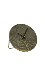7109618 | Klok Ø15 cm ALOCIL antiek brons swirl | Light & Living
