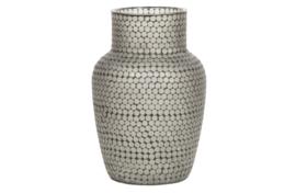 373338-Z | Ace vaas glas mozaiek zwart | WOOOD Exclusive - Verwacht op 01-05!