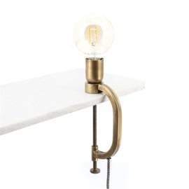 192160 | Klamp tafellamp - brass | By-Boo