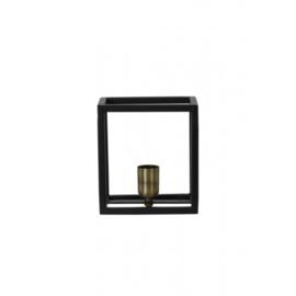 3116512 | Wandlamp 18x13x20 cm GLENNY mat zwart | Light & Living