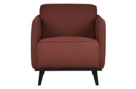 378670-C | Statement fauteuil met arm bouclé chestnut | BePureHome