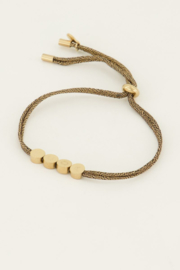 Touw armband luck - goud/zilver | My Jewellery