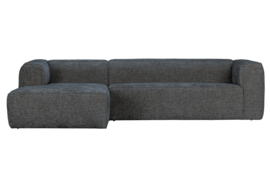 375689-ME | Bean hoekbank links grove melange stof terrazzo | WOOOD Exclusive