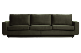 800093-156 | Fame bank 3-zits velvet dark green hunter | BePureHome