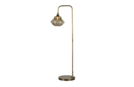 800775-B | Obvious staande lamp antique brass | BePureHome