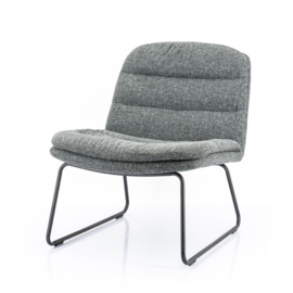 210033 | Lounge chair Bermo - anthracite | By-Boo