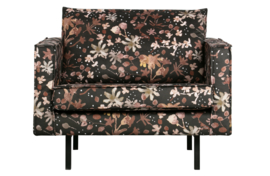 800541-A | Rodeo fauteuil aquarel flower chestnut | BePureHome