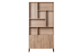 373381-N | Gravure hoge kast eiken naturel [fsc] | WOOOD Exclusive