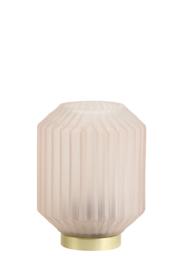 1851225 | Tafellamp LED Ø13x17 cm IVOT glas licht grijs | Light & Living - Eind oktober weer verwacht!