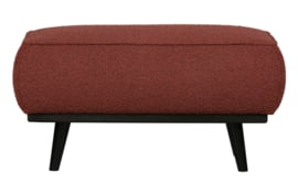 378663-C | Statement hocker bouclé chestnut 80x55cm | BePureHome
