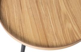 375431-N   Mesa bijzettafel L hout naturel 34xØ60   WOOOD