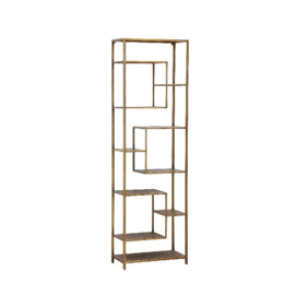 702081 | Duana Playful gold iron open cabinet high | PTMD