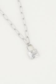 Schakelketting love lock - zilver | My Jewellery