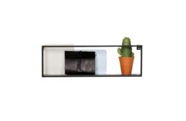 370109-Z | Meert wandplank metaal zwart 50 cm | WOOOD