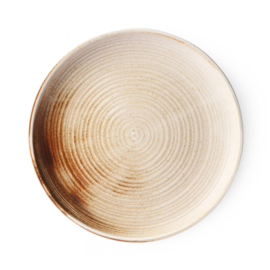 ACE6712 | Home chef ceramics: rustic dinner plate cream/brown | HKliving