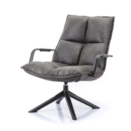99660 | Fauteuil Mitchell - antraciet topper | Eleonora