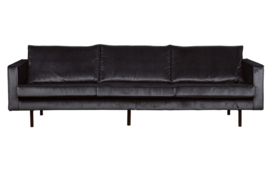 800543-G | Rodeo bank 3-zits velvet dark grey - 67 | BePureHome
