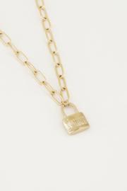 Schakelketting love lock - goud/zilver | My Jewellery