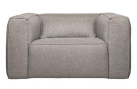 377317-G | Bean fauteuil incl. kussen lichtgrijs gemeleerd | WOOOD Exclusive