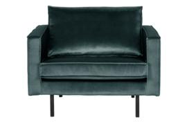 800541-198 | Rodeo fauteuil velvet teal | BePureHome