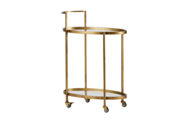 800691-B | Push trolley metaal antique brass | BePureHome