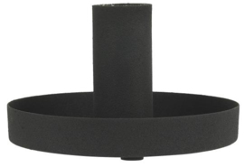 1672-24 | Candle holder f/dinner candle black L | Ib Laursen