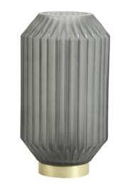 1851378 |Tafellamp LED Ø15x27 cm IVOT glas mat olijf groen | Light & Living
