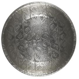 1995-12 | Tray w/leaf pattern antique silver finish - small | Ib Laursen