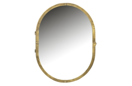 800017-B | Unfold spiegelkast metaal antique brass | BePureHome