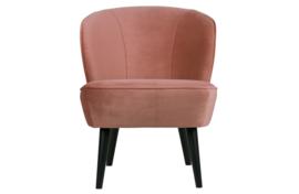 375690-31 | Sara fauteuil - fluweel oud roze | WOOOD