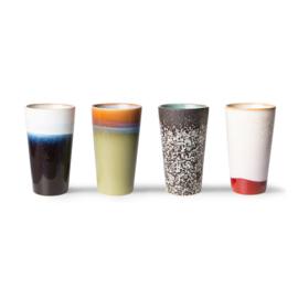 ACE7054 | 70s ceramics: latte mugs (set of 4) | HKliving - Eind november verwacht!