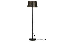 377143-Z | Keto staande lamp metaal zwart/antique brass | WOOOD Exclusive - Verwacht op 27-11!