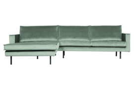 800905-144 | Rodeo chaise longue links velvet mint | BePureHome