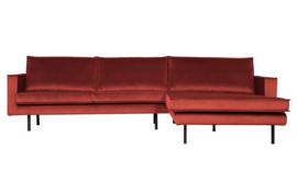 800972-205   Rodeo chaise longue rechts velvet chestnut   BePureHome