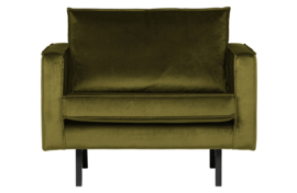 800541-53 | Rodeo fauteuil velvet olive | BePureHome