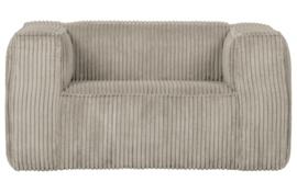 377316-RN | Bean fauteuil grove ribstof naturel | WOOOD Exclusive