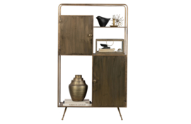 800025-B | Chief vakkenkast metaal antique brass | BePureHome