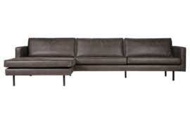 800905-Z | rodeo chaise longue links zwart | BePureHome