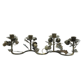 704538 | Nilo Brass old iron candle holder forest deco wide | PTMD - Verwacht vanaf week 43!