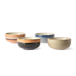ACE6877 | Ceramic 70's tapas bowls set of 4 | HKliving