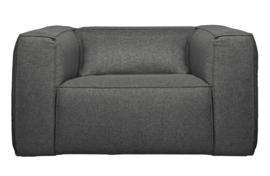 377317-M | Bean fauteuil incl. kussen middengrijs gemeleerd | WOOOD Exclusive