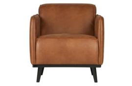 378670-09 | Statement fauteuil met arm - eco leer cognac | BePureHome