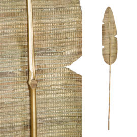 700578 | Dried Flower gold bamboo stem palm leaf S | PTMD - AFHAALARTIKEL!