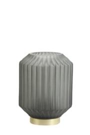 1851278 | Tafellamp LED Ø13x17 cm IVOT glas mat olijf groen | Light & Living