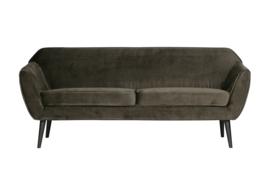 340451-G | Rocco sofa 187 cm - fluweel warm groen | WOOOD