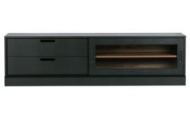373349-Z | James tv-meubel noten/zwart [fsc] | WOOOD Exclusive - Verwacht op 10-04!