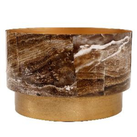 705845 | Imre pot L brown marble print | PTMD