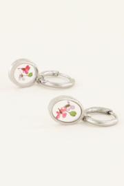 Oorringen wildflower ovaal - zilver | My Jewellery