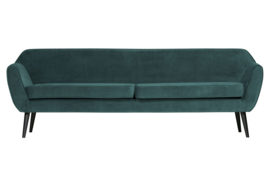 340480-198 | Rocco xl sofa 230 cm fluweel teal | WOOOD